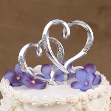 Double Heart Pick/Cake Top