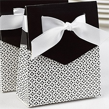 Sweet Ribbon Favor Boxes - Black