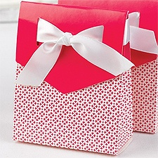 Sweet Ribbon Favor Boxes - Fuchsia