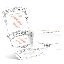 Wedding Playbill Ebony Seal and Send Black Wedding Invitation
