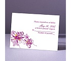 Orchids - Amethyst - Response Card and Envelope