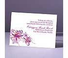 Orchids - Amethyst - Reception Card