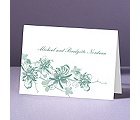 Orchids - Fern - Thank You Note Folder and Envelope