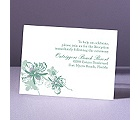 Orchids - Fern - Reception Card