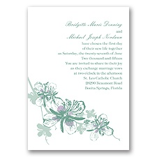 Orchids Fern Wedding Invitation