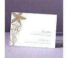 Starfish and Seashells - Latte - Reception Card