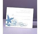 Starfish and Seashells - Ocean - Response Card and Envelope