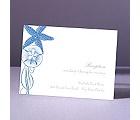 Starfish and Seashells - Ocean - Reception Card