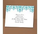 Chandelier Chic - Palm - Reception Card