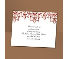Chandelier Chic - Scarlet - Reception Card