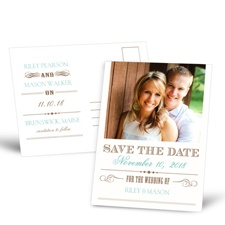 Typography Save the Date