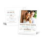 Typography - Save the Date Postcard
