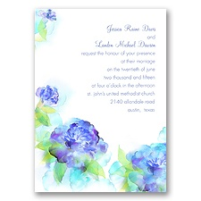 Beauty in Blue Wedding Wedding Invitation
