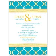 Simply Mod Wedding Invitation