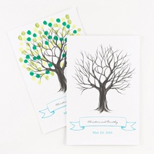 Thumbprint Tree Signature Poster
