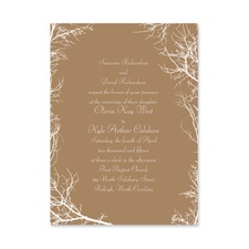 Boughs and Branches Petite Brown Wedding Invitation