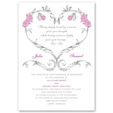 Fairy Tale Roses Wedding Invitation