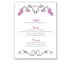 Fairy Tale Roses - Menu Card