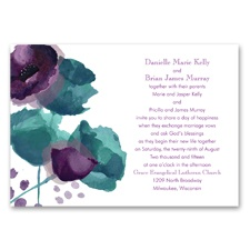 Sultry Blooms Grapevine Wedding Invitation