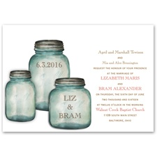 Canning Jars - Invitation