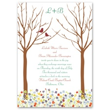 Love Springs Brown Wedding Invitation