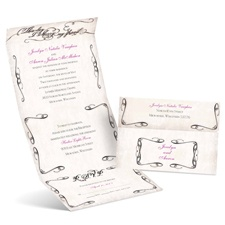 Rustic Flourish Seal and Send Wedding Invitation