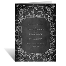 Chalkboard Flourish - Wedding Program