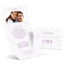 Damask Fade Seal and Send Wedding Invitation
