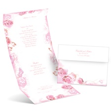 Watercolor Blooms Fuchsia Seal and Send Wedding Invitation