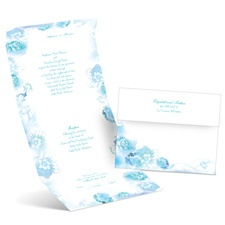 Watercolor Blooms - Palm - Seal and Send Invitation