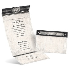Celtic Love Black Seal and Send Wedding Invitation
