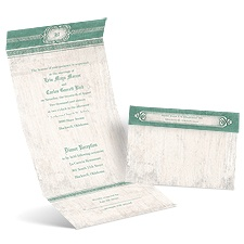 Celtic Love Fern Seal and Send Wedding Invitation