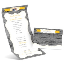 Weathered Wood Seal and Send Wedding Invitation