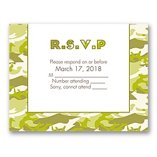 Camo Love - Moss Green - Response Card