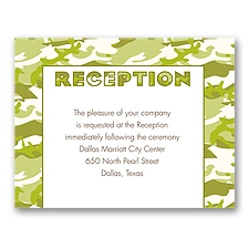 Camo Love - Moss Green - Reception Card
