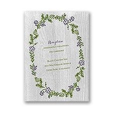 Woodland Greens - Reception Card