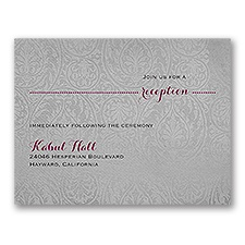Forever Refined - Reception Card