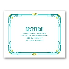 Art Nouveau - Reception Card