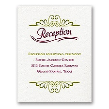 Modern Details - Reception Card