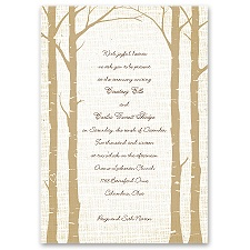 Secret Spot Champagne Brown Wedding Invitation