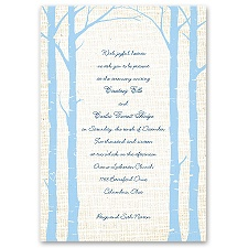Secret Spot Sea Blue Wedding Invitation