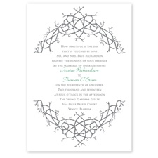 Nature's Celtic Knot Wedding Invitation