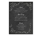 Chalkboard Love Story - Menu Card