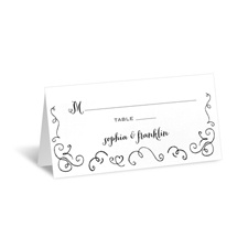 Chalkboard Love Story - Place Card