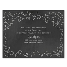 Chalkboard Love Story - Reception Card