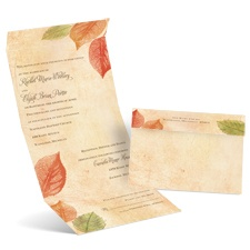 Aspen Leaves Seal and Send Wedding Invitation