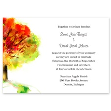 Brilliant Autumn Fall Wedding Invitation