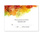 Brilliant Autumn - Response Card and Envelope