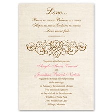 Rustic Love Wedding Invitation