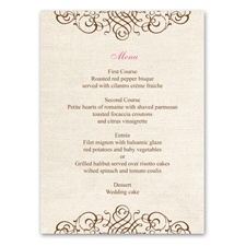 Rustic Love - Menu Card